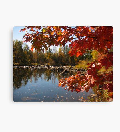 Jump River at Big Falls Canvas Print