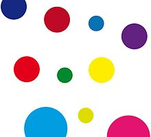 Some of them are polka dots; others are mini space/time portals onto a Pop Art painter's palette by drunkonwater