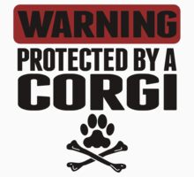 Warning Protected By A Corgi One Piece - Short Sleeve