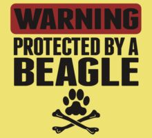 Warning Protected By A Beagle One Piece - Short Sleeve