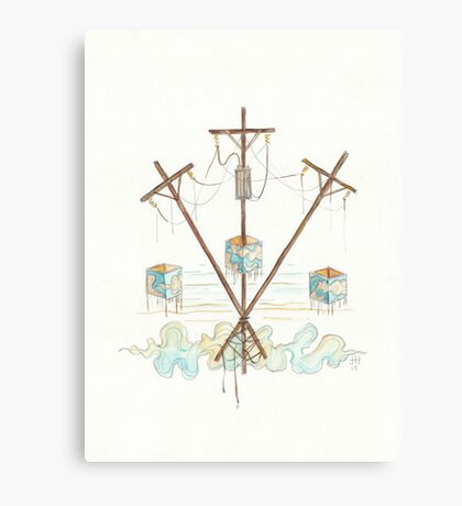 Telephone Lines - internet networking cell phone Canvas Print