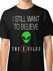 X-File Still Want To Believe Alien Head Classic T-Shirt