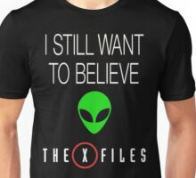 X-File Still Want To Believe Alien Head Unisex T-Shirt