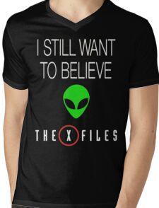 X-File Still Want To Believe Alien Head Mens V-Neck T-Shirt