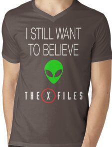 X-File Still Want To Believe Alien Head Mens V-Neck T-Shirt