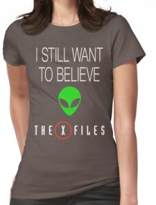 X-File Still Want To Believe Alien Head Womens Fitted T-Shirt