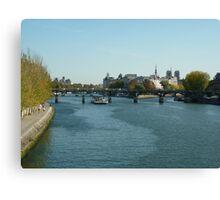 A Trip on the Seine Canvas Print