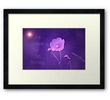 Joy Comes...Hope for Our pink October World Framed Print