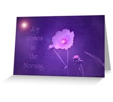 Joy Comes...Hope for Our pink October World Greeting Card