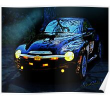Hallow Weenie Chevy SSR Decorated for Halloween Poster