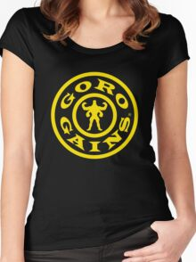Mortal Kombat Decay's #GOROGAINS Women's Fitted Scoop T-Shirt