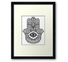MANDALA HAND Framed Print