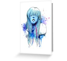 Sapphire Portrait Greeting Card