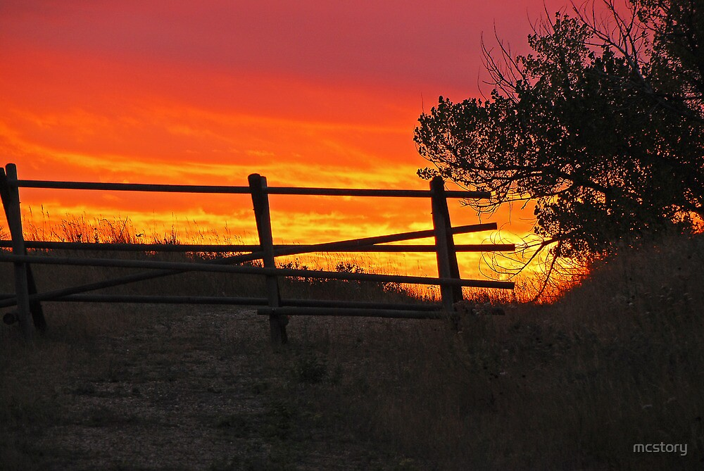 Bear Butte Sunset by mcstory
