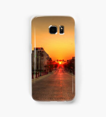 Sunrise on East Main Samsung Galaxy Case/Skin
