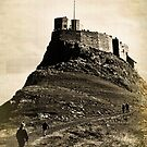 Vintage Lindisfarne Castle. by Colin Metcalf