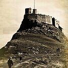Vintage Lindisfarne Castle. by Colin Metcalf