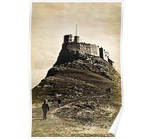 Vintage Lindisfarne Castle. Poster