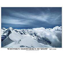 western breithorn Photographic Print