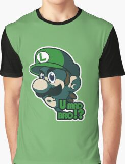 U mad bro!? Luigi Graphic T-Shirt