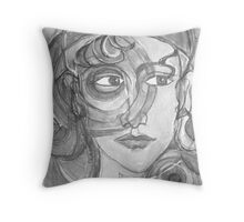 Insight in Black & White Throw Pillow