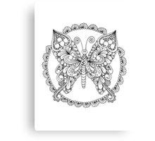 Tanglefly Mandala Canvas Print