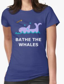 Bathe The Whales! Womens Fitted T-Shirt