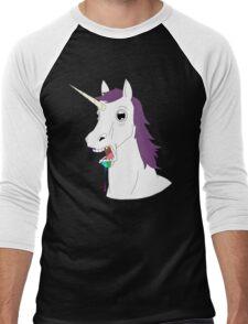 Dumb Unicorn  Men's Baseball ¾ T-Shirt