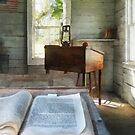 One Room Schoolhouse with Book by Susan Savad
