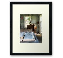 One Room Schoolhouse with Book Framed Print