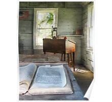 One Room Schoolhouse with Book Poster
