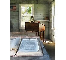 One Room Schoolhouse with Book Photographic Print