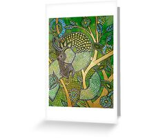 Green Tree Dragon Greeting Card
