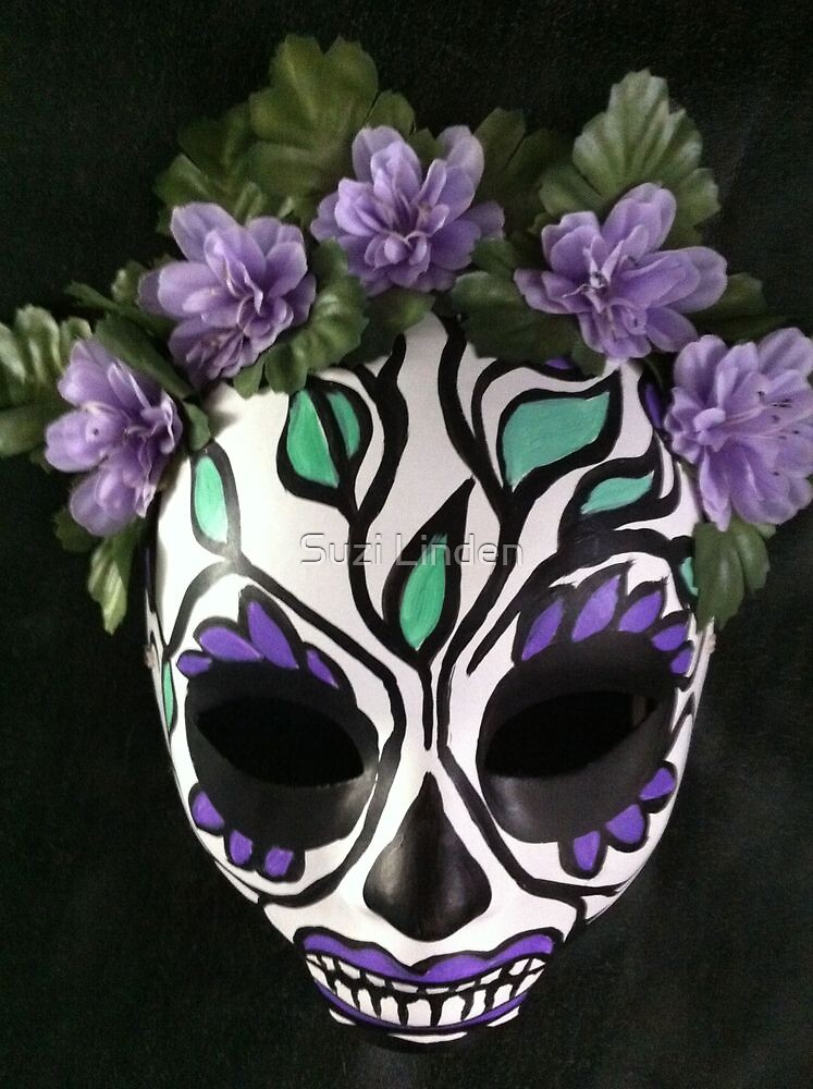 Quot Day Of The Dead Sugar Skull Mask Quot By Suzi Linden Redbubble