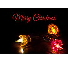 Lights - Christmas Card Photographic Print