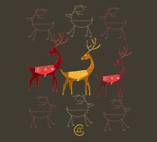"""Swedish Mid-Century Reindeer""© Womens Fitted T-Shirt"