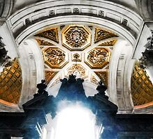 The West Doorway of St Paul's Cathedral by PictureNZ