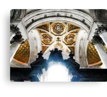 The West Doorway of St Paul's Cathedral Canvas Print