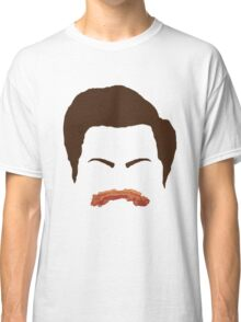 Ron Swanson Bacon Mustache  Classic T-Shirt