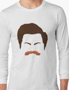 Ron Swanson Bacon Mustache  Long Sleeve T-Shirt