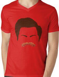 Ron Swanson Bacon Mustache  Mens V-Neck T-Shirt
