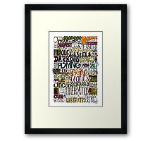 Deepest Fear Framed Print