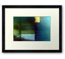 Retro Stairwell Framed Print
