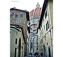 Florence, Italy - street scene Photographic Print