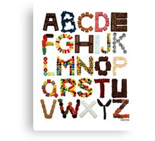 Candy Alphabet Canvas Print