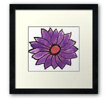 Purple water color flower Framed Print
