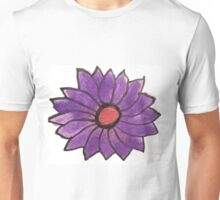 Purple water color flower Unisex T-Shirt