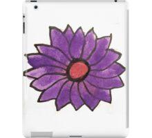 Purple water color flower iPad Case/Skin