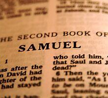 2nd Samuel Bible Page by Tiffany Muff