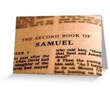 2nd Samuel Bible Page Greeting Card